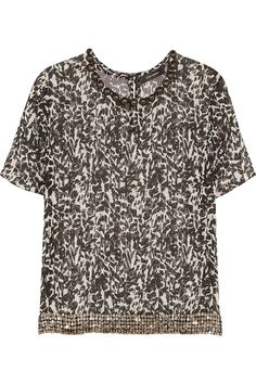 Isabel Marant | Owen embellished silk-chiffon top
