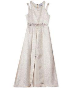 5024b935e647 Us Angels Big Girls Glitter Lace Dress - Gray 7