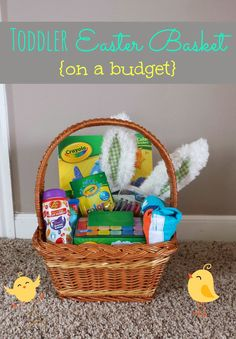 Deegans first easter basket baby toddler boy first easter toddler easter basket ideas on a budget negle Gallery