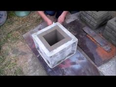 concrete block fence wall making - YouTube