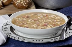 Our stick-to-your-ribs Navy Bean Soup gets its long cooked taste from some pantry shortcuts. As a starter or a meal in itself, it's rich and flavorful, and sure to bowl them over!