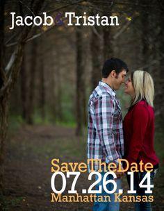 Save the Date | Simple Save the Date Design | Joe R Geske Photography | Manhattan Kansas Wedding Photographer | Kansas Wedding & Engagement Photographer