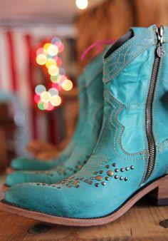 Turquoise Galveston Boot