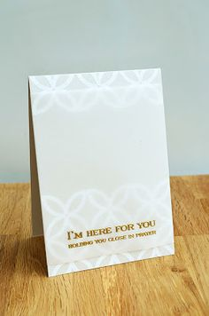 I'm Here For You Card by Jess Witty for Papertrey Ink (August 2013)