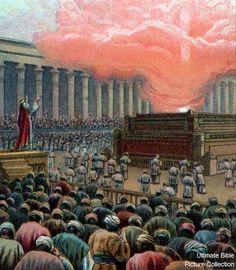 Solomon dedicates the temple.