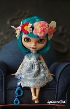 RESERVED for M deposit for OOAK Custom Blythe by splattergirluk