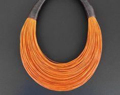 Declaración fibra collar joyería minimalista por superlittlecute