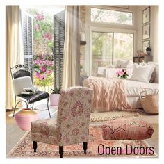 """""""Open Doors"""" by nicolevalents ❤ liked on Polyvore featuring interior, interiors, interior design, home, home decor and interior decorating"""