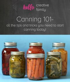 Canning 101- all the