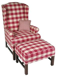 red checked primitive couch   Our Price from $ 782 (Depending on Fabric Choice)