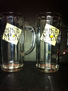 $9.99 Rock Bottom Mug Club Beer Mugs Set of 2 Arc France 7 5 inches Tall | eBay