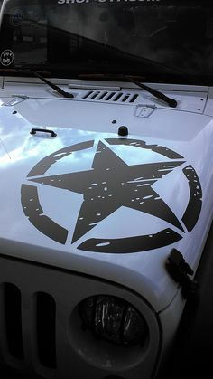Jeep Punisher Military Star Sticker Vinyl Decal Jeep Wrangler - Jeep hood decalsall that wander are not lost compass jeep hood decal sticker