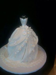 Wedding dress cake!
