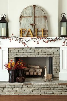 A fireplace ledge is helpful when you have guests over because it becomes extra seating