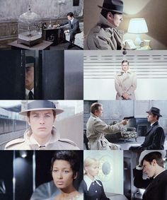 """Le Samouraï, directed by Jean-Pierre Melville, starring Alain Delon. """"There is no greater solitude than that of the samurai, unless perhaps it be that of the tiger in the jungle…Perhaps…"""" Alain Delon, Serenity Movie, Melville, Old Movie Posters, Francis Ford Coppola, Film Inspiration, Great Films, Independent Films, Film Stills"""