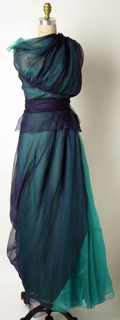 late 40s evening gown...