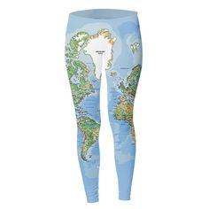 World Map Leggings