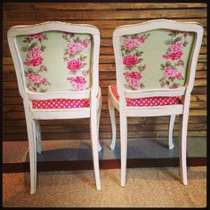backs of the chairs?