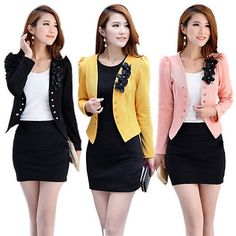 New Candy Color Women Fashion Korean Solid Slim Suit Blazer Coat Jacket S - XXL in Clothing, Shoes & Accessories, Women's Clothing, Coats & Jackets Ladies Short Coat, Slim Suit, Blazer And Shorts, Blazer Jacket, Office Fashion Women, Ladies Fashion, Blazer Buttons, Blazers For Women, Korean Fashion