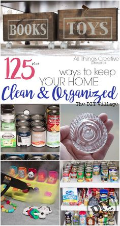 Over 125 ways to keep your home clean and organized all year long.  I need this so badly, my house is a total wreck!