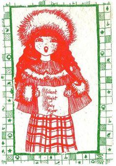 Christmas card print by Laura Lee Donoho