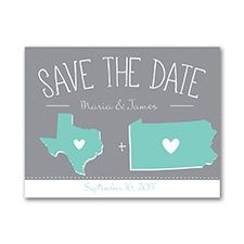 State of Matrimony - Save the Date Card l Engagement Ideas l Wedding Ideas l Wedding Invitations l Personalized Save The Dates l Long Distance Relationships l Military Weddings l Military Theme l Military Save The Dates l Ambiance Special Events