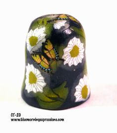 Collectible #Thimbles, Handmade Thimbles, Thimble Collection, Flower Thimble, Butterfly Thimble