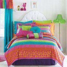 seventeen susette stripe comforter set | ♥♥✿✞girls*room