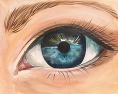 Realistic Eye Fully guided acrylic painting tutorial on Canvas for beginners Step by step. REAL ART LESSON so you can paint better eyes.