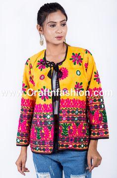 Indian Tribal Banjara Jacket- Gujaratri Embroidred Mirror work Jacket- Designer Jacket /Waist Coat/ Embroidery Jacket-