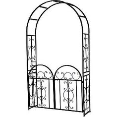 Metal Arbor With Gate Cheap!!! For Side Yard.