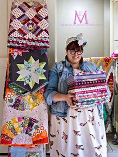 The Adventures of Elizabeth: Tickled Pink - Tula Pink - My favorite fabric designer!