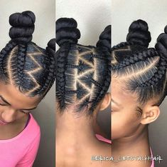 Cute young girls braid hairstyle