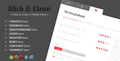 Slick & Clean - HTML5 and CSS3 Responsive Forms - https://codeholder.net/item/css/slick-clean-html5-css3-responsive-forms