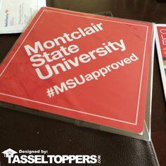 CLASS OF 2016 Visit www.tasseltoppers.com and #graduate with style. #TasselToppersYearBook #TasselToppers #student #school #gradcap #decoratedgradcaps #graduation #capandgown #graduationparty #highschool #college #gradfest #classof2016 #SENIOR2016 #GRAD2016 #MontclairStateUniversity #MSUapproved