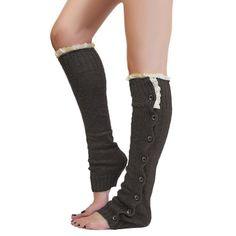 Dark Gray Boot Socks / Leg Warmers Gorgeous gray leg warmers, perfect under boots or for cozy nights by the fire! Features Ivory lace detail with black buttons. Sydney Elle Accessories Hosiery & Socks