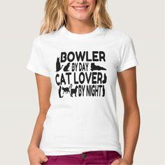 Cat Lover Bowler Tee T Shirt, Hoodie Sweatshirt