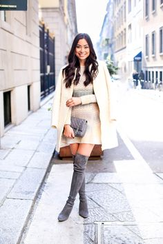 Missoni at Milan Fashion Week - M Missoni dress c/o // Zara coat Stuart Weitzman boots // Chanel bag Tuesday, March 3, 2015