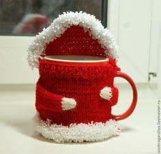 Купить Свитер грелка для чашки - кружка, чашка, грелка, свитер, кофта, вязание, акриловая пряжа