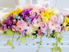 結婚式の会場装花~ラプンツェル~ | しあわせはこび隊 ポポの活動日記 Tangled Wedding, Tangled Rapunzel, Wedding Bouquets, Floral Wreath, Wreaths, Princess, Disney, Flowers, Gardening