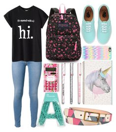 """""""#30"""" by isabellaobrien15 ❤ liked on Polyvore featuring JanSport, 7 For All Mankind, Vans, Chicnova Fashion, Casetify and FOSSIL"""