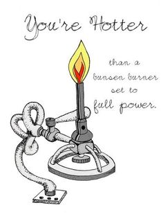 """""""You're hotter than a bunsen burner set to full power"""" #chemistry #nerdy"""