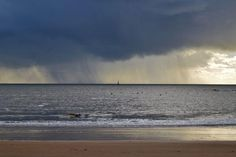 pluie sur Le phare de Cordouan.