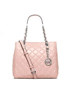 694a4ebca24 Michael Michael Kors Susannah Small Quilted Leather Tote Small Quilts, Jean  Top, Quilted Leather