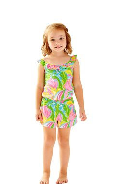 Girls Marcella Romper - Lilly Pulitzer