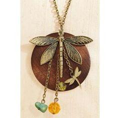 Dragonfly Garden Necklace http://www.addedtouch.ca