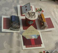 Vintage Chritmas with Holiday Frame and Surprise Box