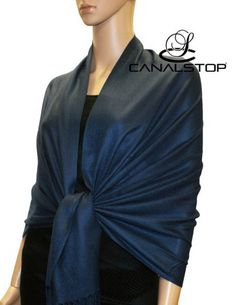 Free Shipping Navy Blue Chinese Women's Pashmina Shawl Scarves Wrap SW-391 #Affiliate