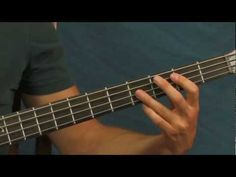 ▶ bass guitar lesson hotel california the eagles - YouTube