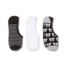 Women's Liner Socks Koalas 3-Pack Gray One Size (€5,41) ❤ liked on Polyvore featuring grey